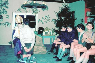 Sinterklaas bij jongverkenners