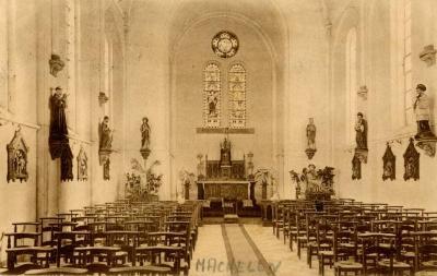 Het interieur van de Machelse kloosterkapel