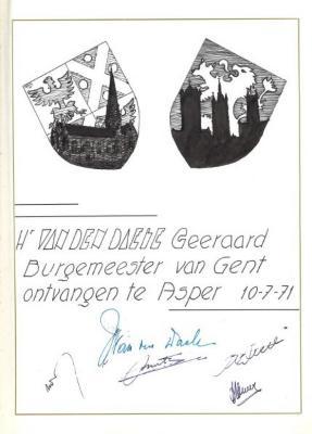 Burgemeester van Gent wordt te Asper ontvangen