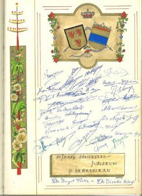 Viering 50-jarig jubileum Gaverse Sint-Sebastiaansgilde
