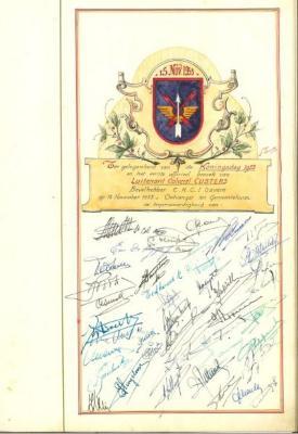 Koningsdag-pagina in het Guldenboek van Gavere