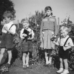 Kinderen met kitten
