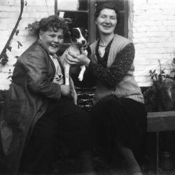 Alma en Armand en hond