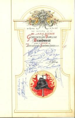 Het 90-jarig bestaan van de Gaverse brandweer