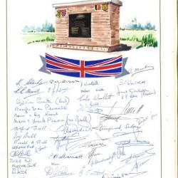 Bezoek gedenksteen Sgt. J. W. Bull
