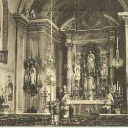 Het koor van de oude kapel van de zusters Sint-Vincentius te Deinze