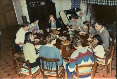 Aan tafel bij de familie Gevaert