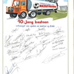 Het 10-jarig jubileum van voetbalploeg V.K. Mazoutvrienden