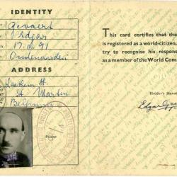 Identity Card World Citizen Edgar Gevaert