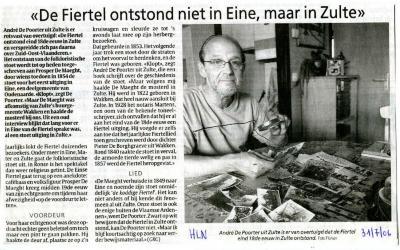 Krantenartikel over de oorsprong van de Firtel