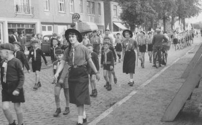 Districtsdag van de Pintse scouts in 1958