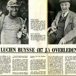 Artikels n.a.v. het overlijden van Lucien Buysse