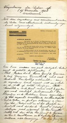 Vergadering der leden 17 december 1928 avondmaal