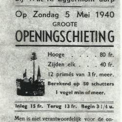 Grote 'openingschieting' in Sint-Martens-Leerne