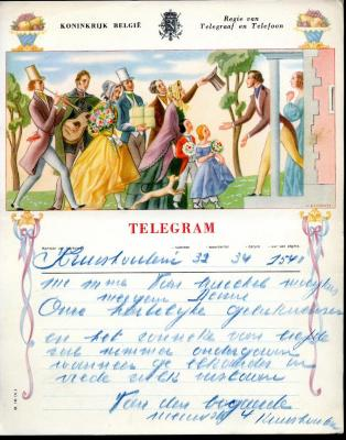 Huwelijkstelegram naar Meigem (2)