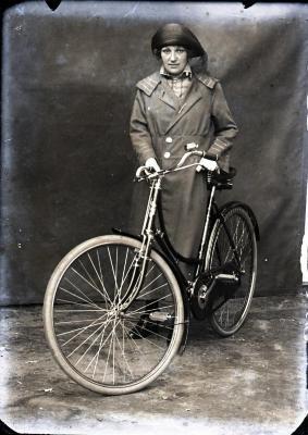 Poseren met de fiets voor Leon