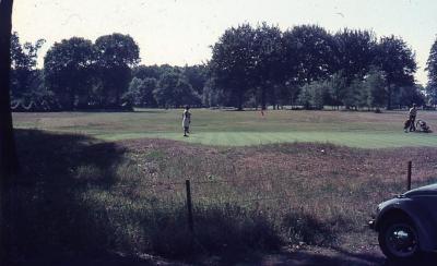 Golfers in actie
